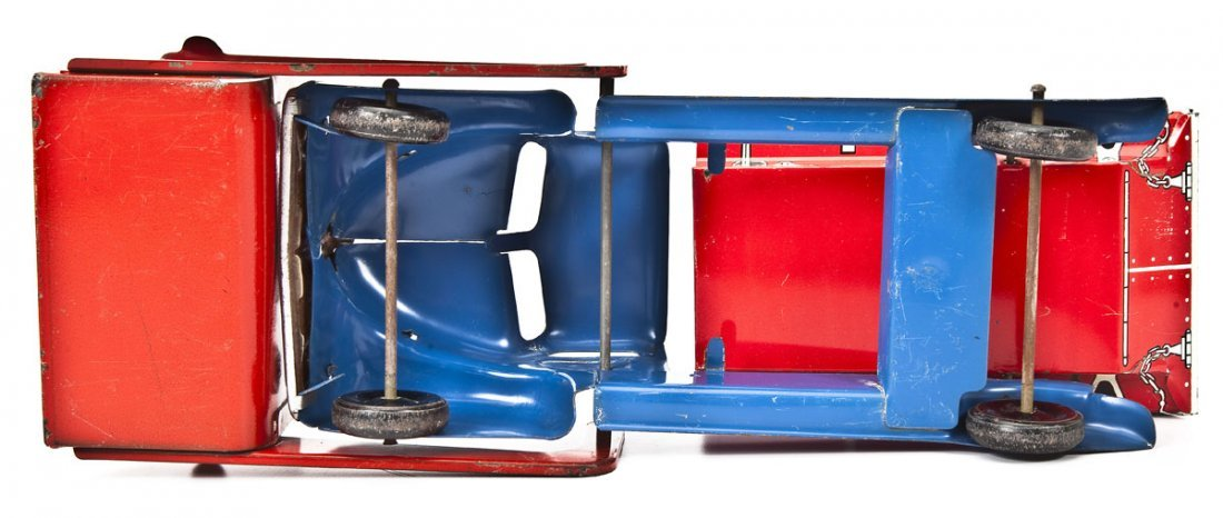 MAR Pressed Tin Toy Sand & Gravel Truck - 4
