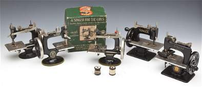 5 Singer Child's Sewing Machines