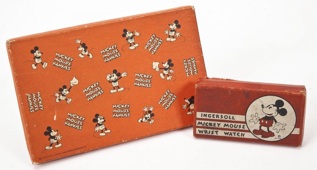 Ingersoll Disney Mickey Mouse Watch & Kerchiefs