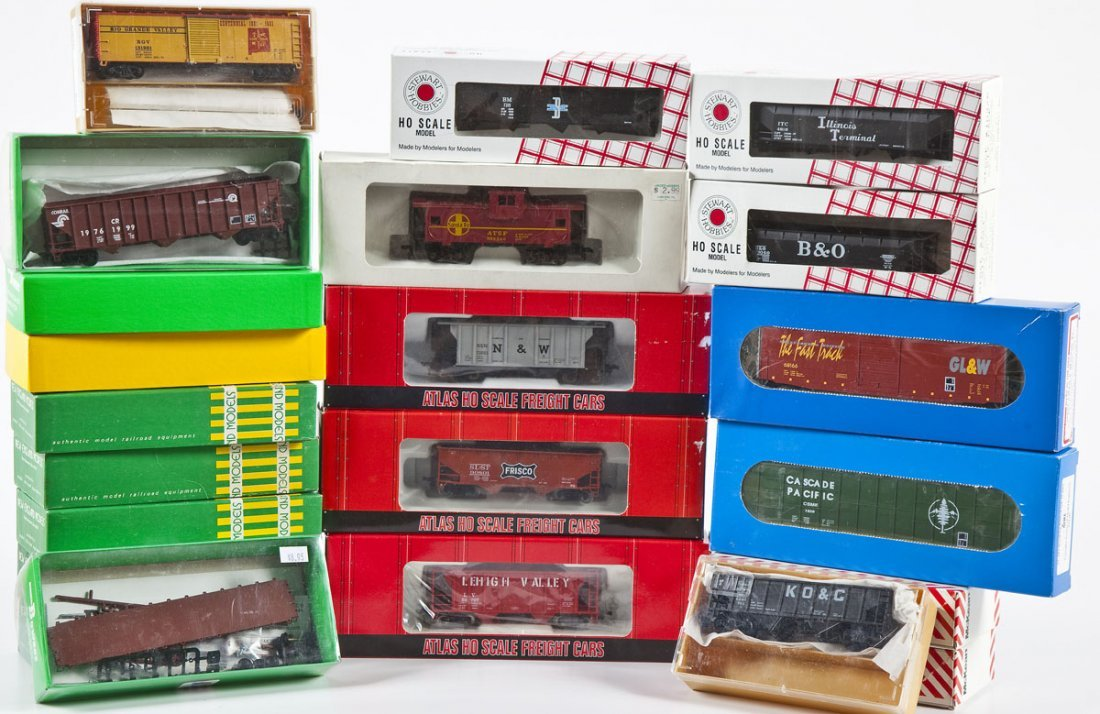 22 Assorted HO Scale Cars incl. Atlas