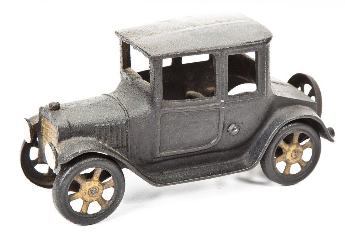 Antique Cast Iron Toy Coupe with Original Paint
