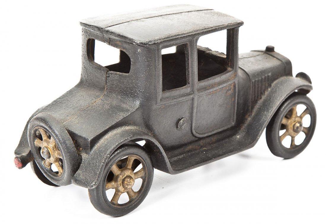 Antique Cast Iron Toy Coupe with Original Paint - 2