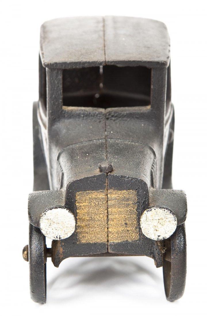 Antique Cast Iron Toy Coupe with Original Paint - 3