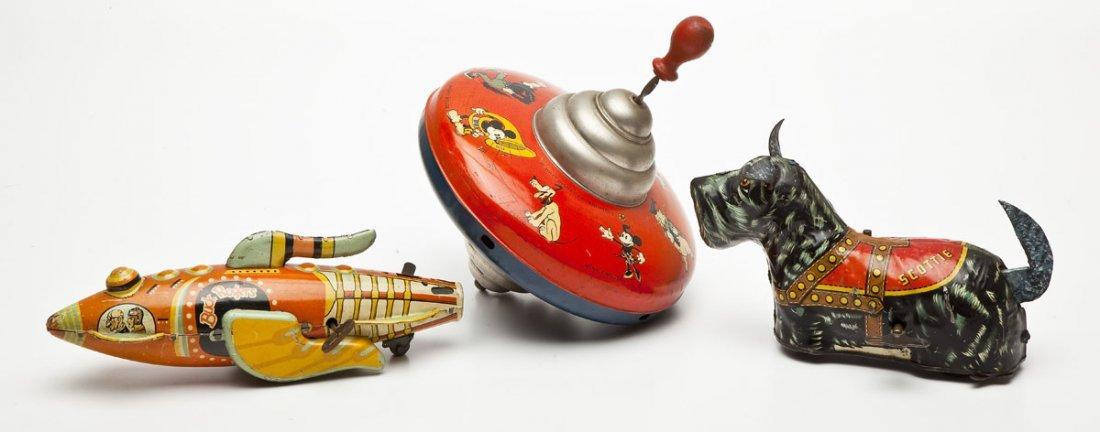 3 Tin Litho Toys incl Early Disney & Marx