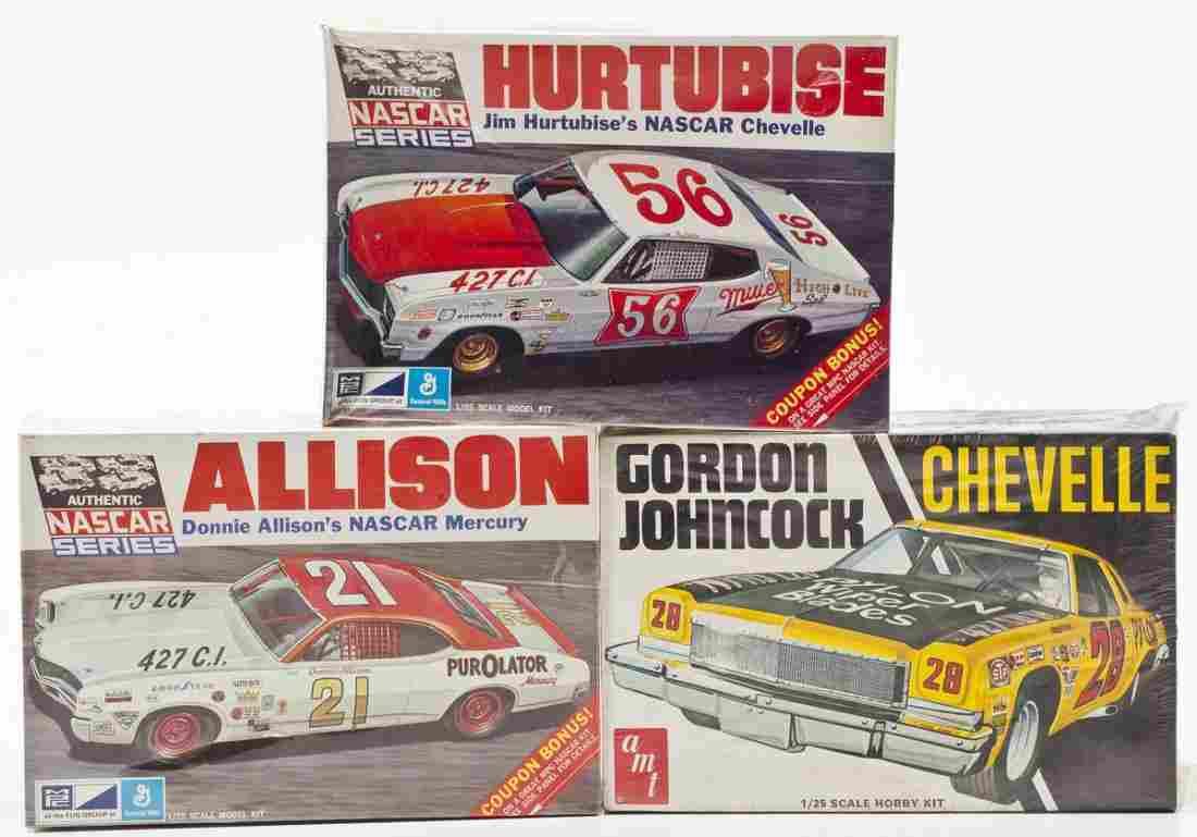 3 Race Car Model Kits incl. AMT & MPC