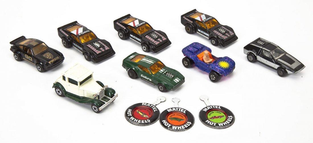 37 Hot Wheels Cars plus Buckle & Matchbox Case - 7