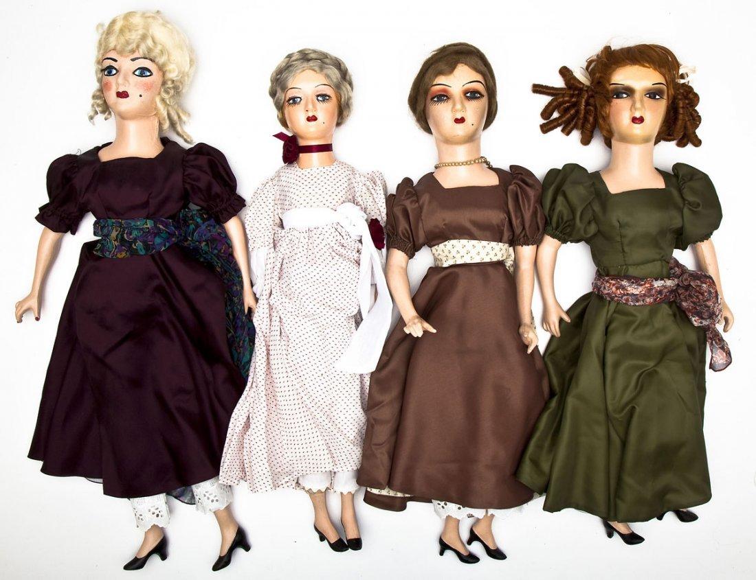 4 Boudoir Composition Dolls