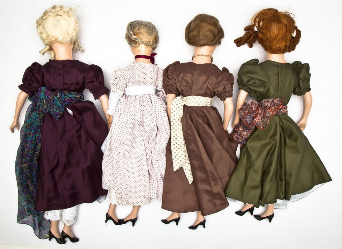 4 Boudoir Composition Dolls - 2