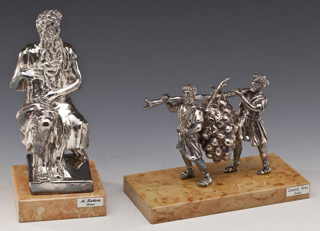2 Sterling Judaica Sculptures incl. A. Kedem