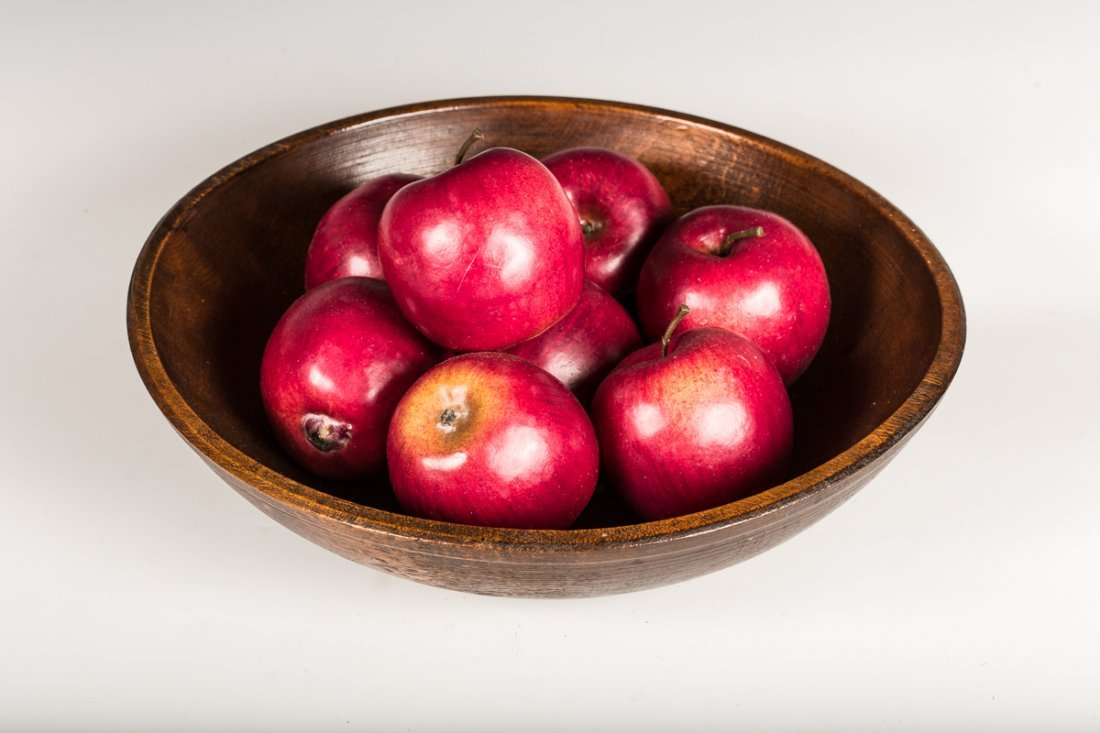 Burl Bowl with Wood Apples