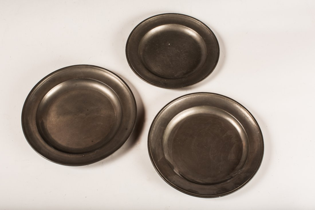 3 Pewter Plates