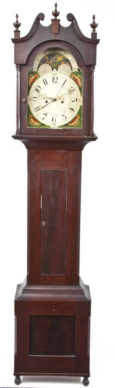 York County Frederick B. Cook Tall Case Clock