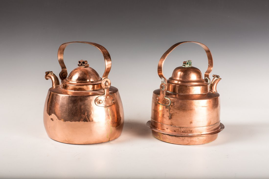 2 Copper Kettles - 2