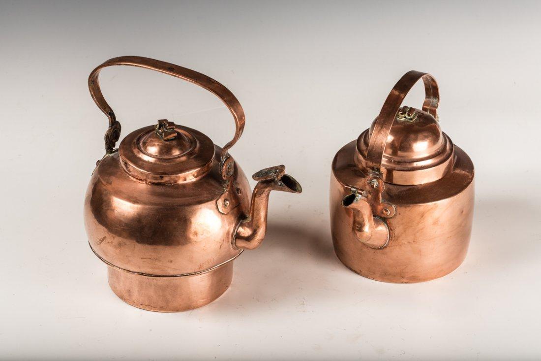 2 Copper Kettles