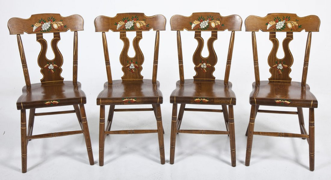 Set of 4 Plank Bottom Chairs
