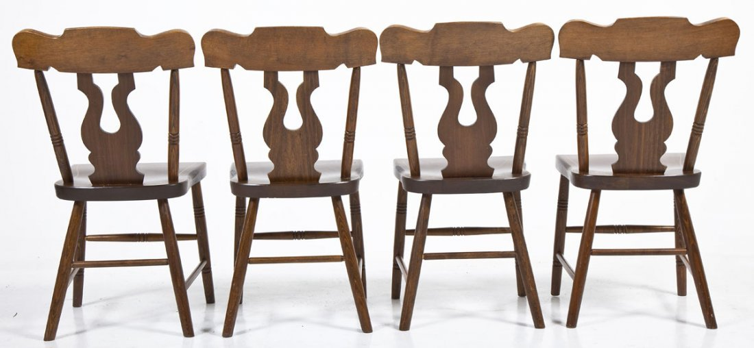 Set of 4 Plank Bottom Chairs - 3