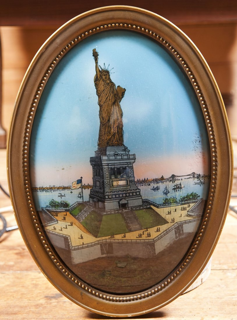 Statue of Liberty Reverse Painted Picture