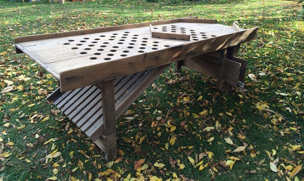 Antique Table Apple Sorter
