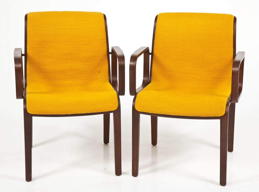 Pair of Bill Stephens for Knoll #1305 Armchairs