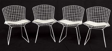 Set of 4 Bertoia for Knoll 420 Wire Side Chairs
