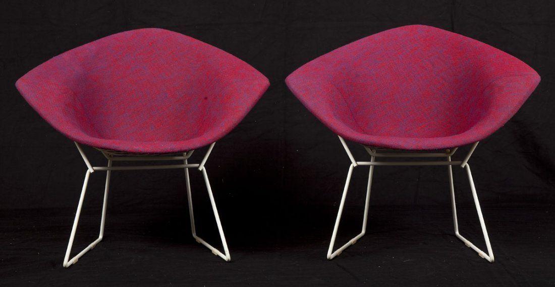 Pair of Bertoia for Knoll Diamond Chairs