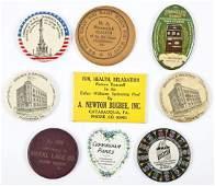 8 Vintage Advertising Pocket Mirrors & Bookmark