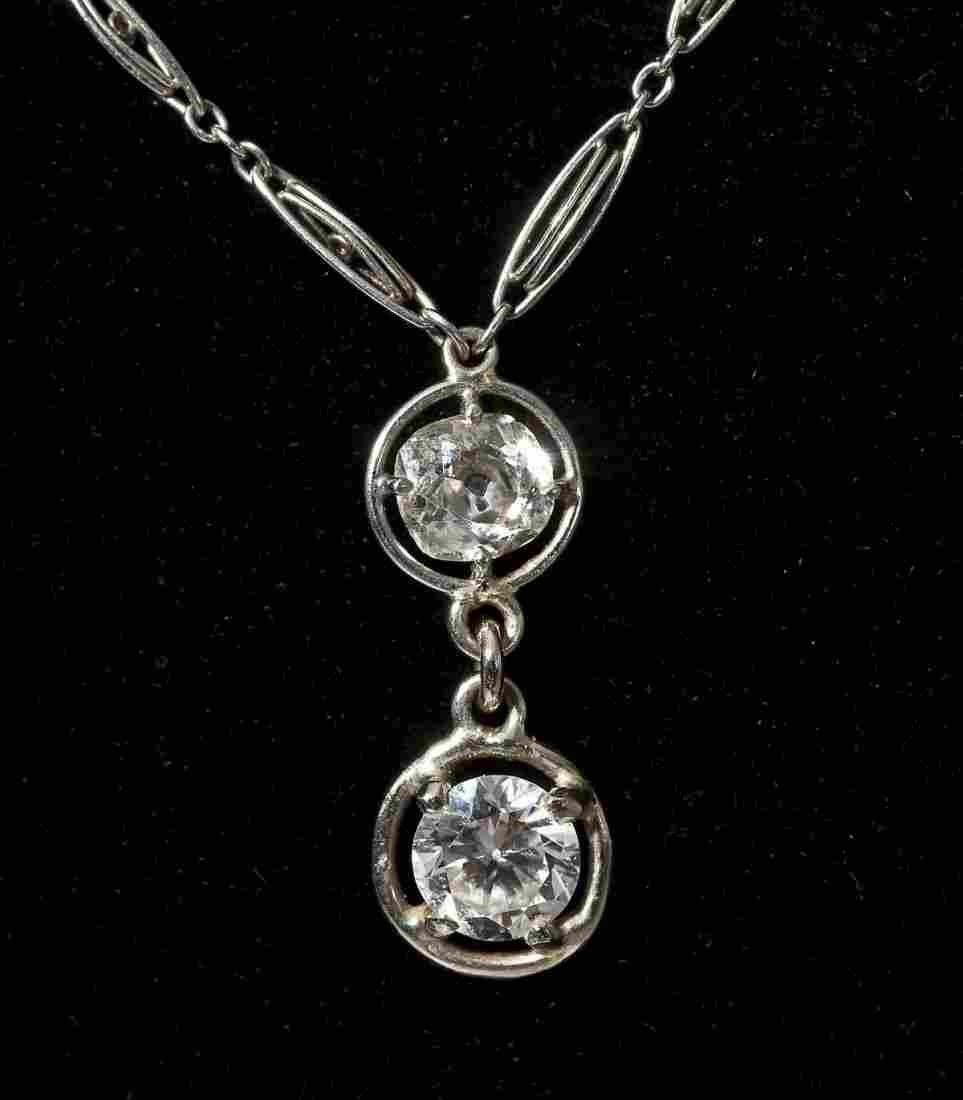 1.07 CTW Diamond & Ruby Necklace