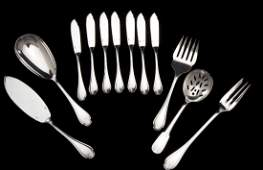 12 Pcs Christofle Pompadour  Cluny Flatware