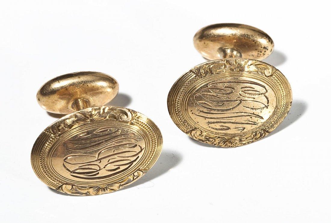 Antique 14K Gold Cufflinks