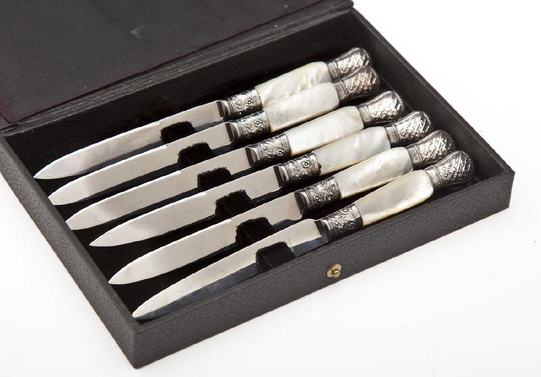 6 Marhill Mother of Pearl Handled Fruit Knives