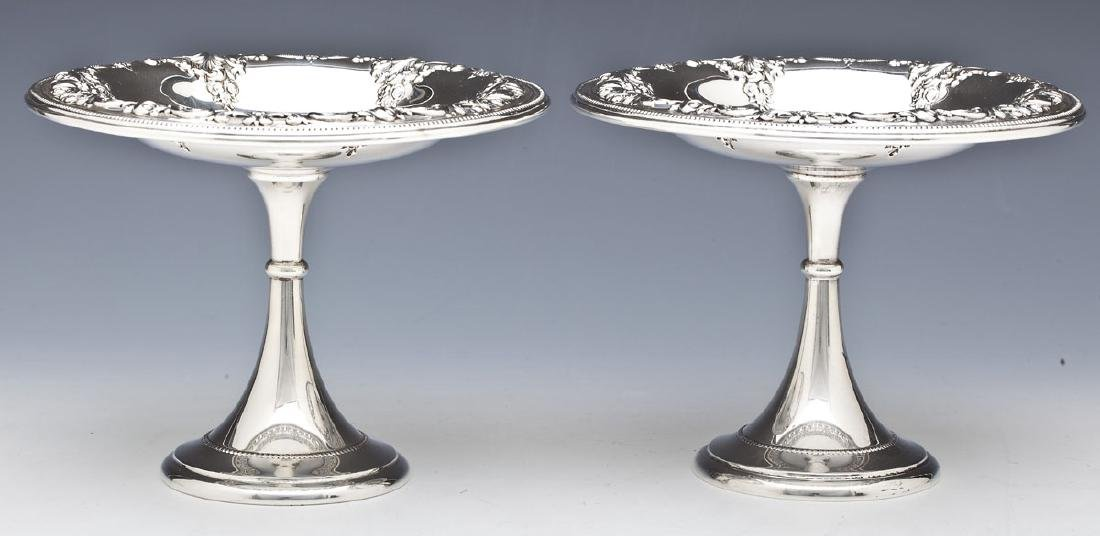 2 Wallace Grand Baroque Sterling Silver Compotes
