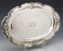 Redlich  Co Sterling Silver Oval Serving Platter