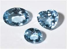 3 Loose Blue Topaz