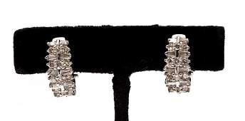 275 CTW White Gold Diamond Hoop Earrings