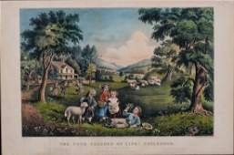 Currier & Ives The Four Seasons of Life: Childhood