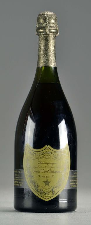 Vintage 1971 Dom Perignon Sealed Bottle Champagne