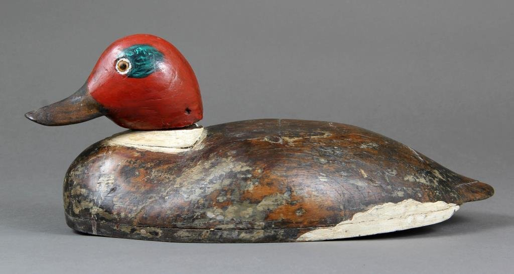 A Carved & Painted Wood Duck Decoy