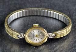 Ladies Tourneau 14K Wristwatch