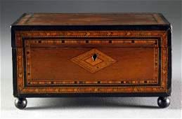 A 19th C. English Inlaid Tea Caddy
