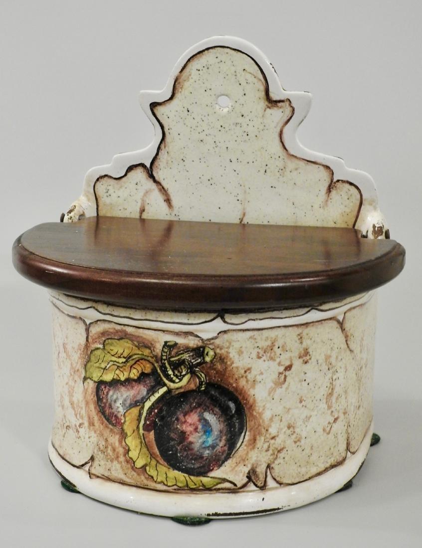 Italian Spice Box Fresco Rustico Hand Painted Plum