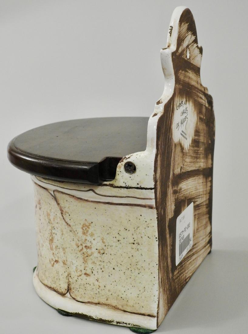 Italian Spice Box Fresco Rustico Hand Painted Plum - 2