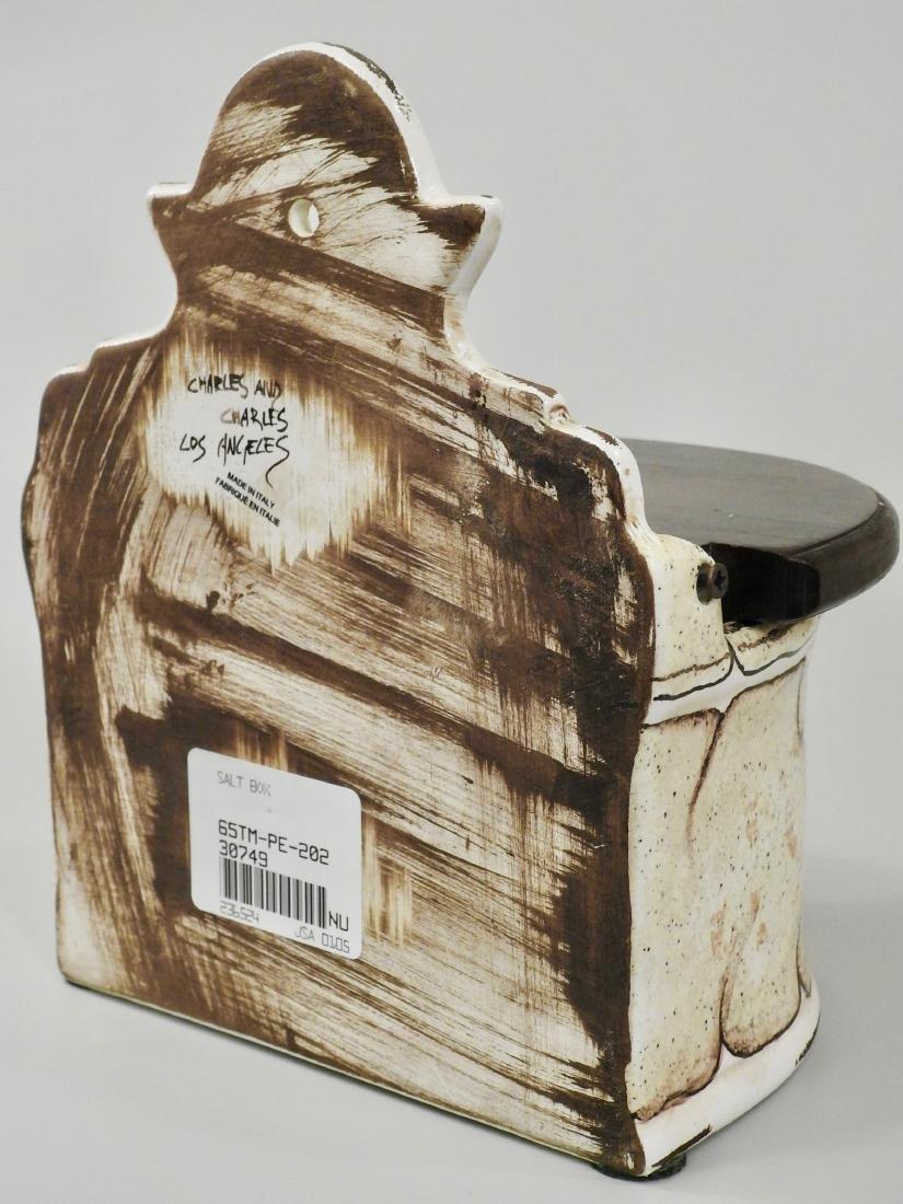 Italian Spice Box Fresco Rustico Hand Painted Plum - 3