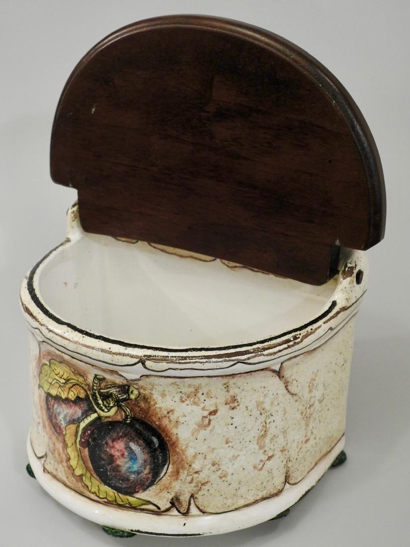 Italian Spice Box Fresco Rustico Hand Painted Plum - 4