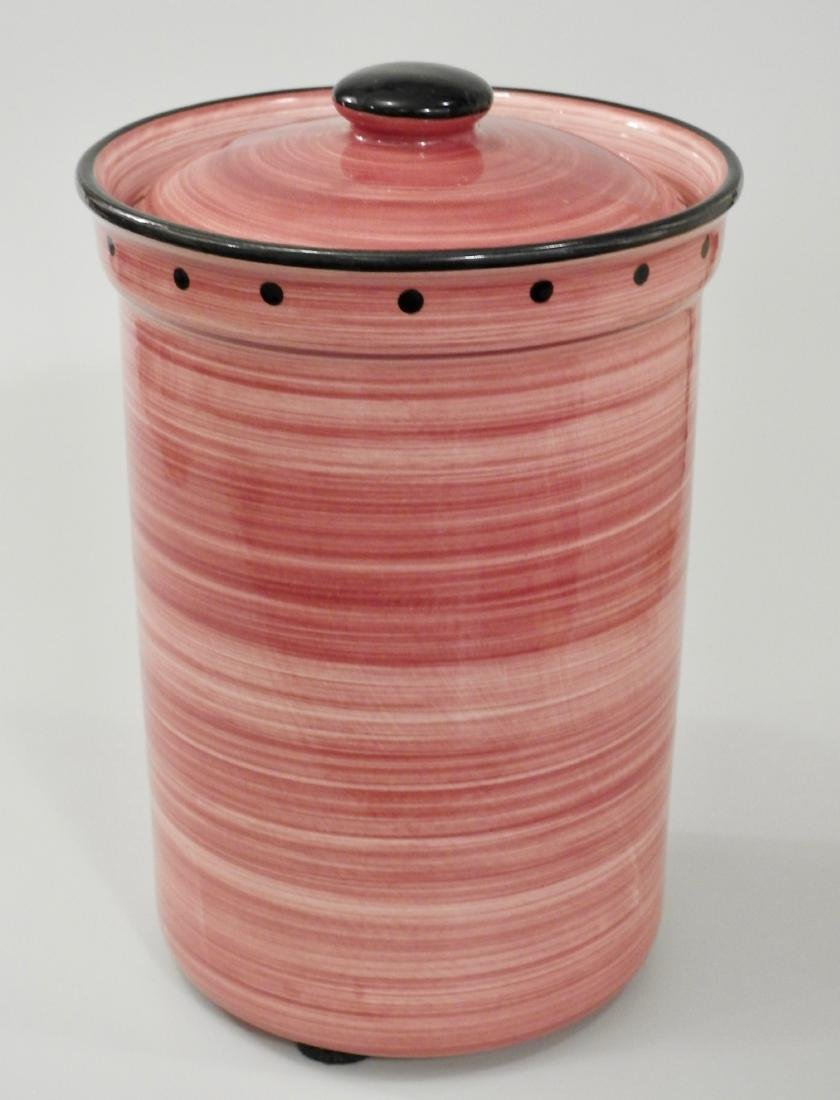 Large English Ulster Ceramics Pink Country Kitchen