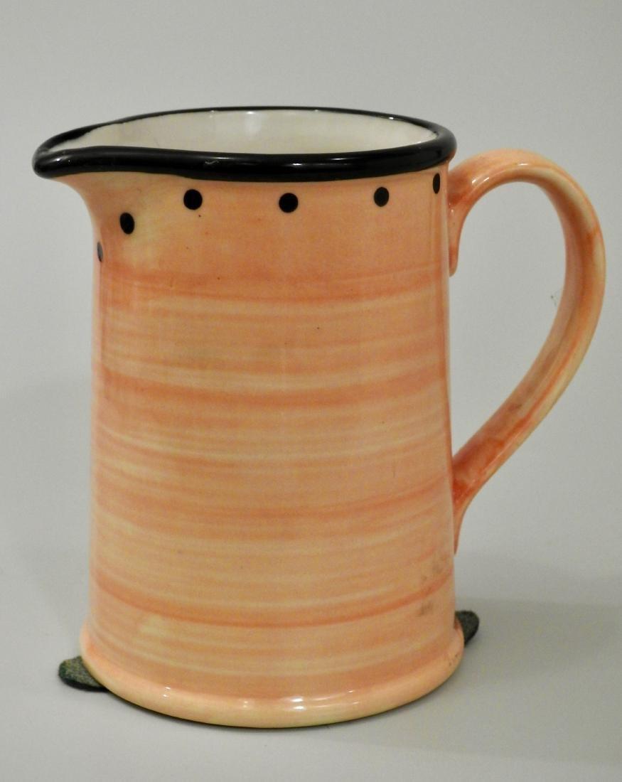 English Yellow Ulster Ceramics Milk Jug Small Pitcher