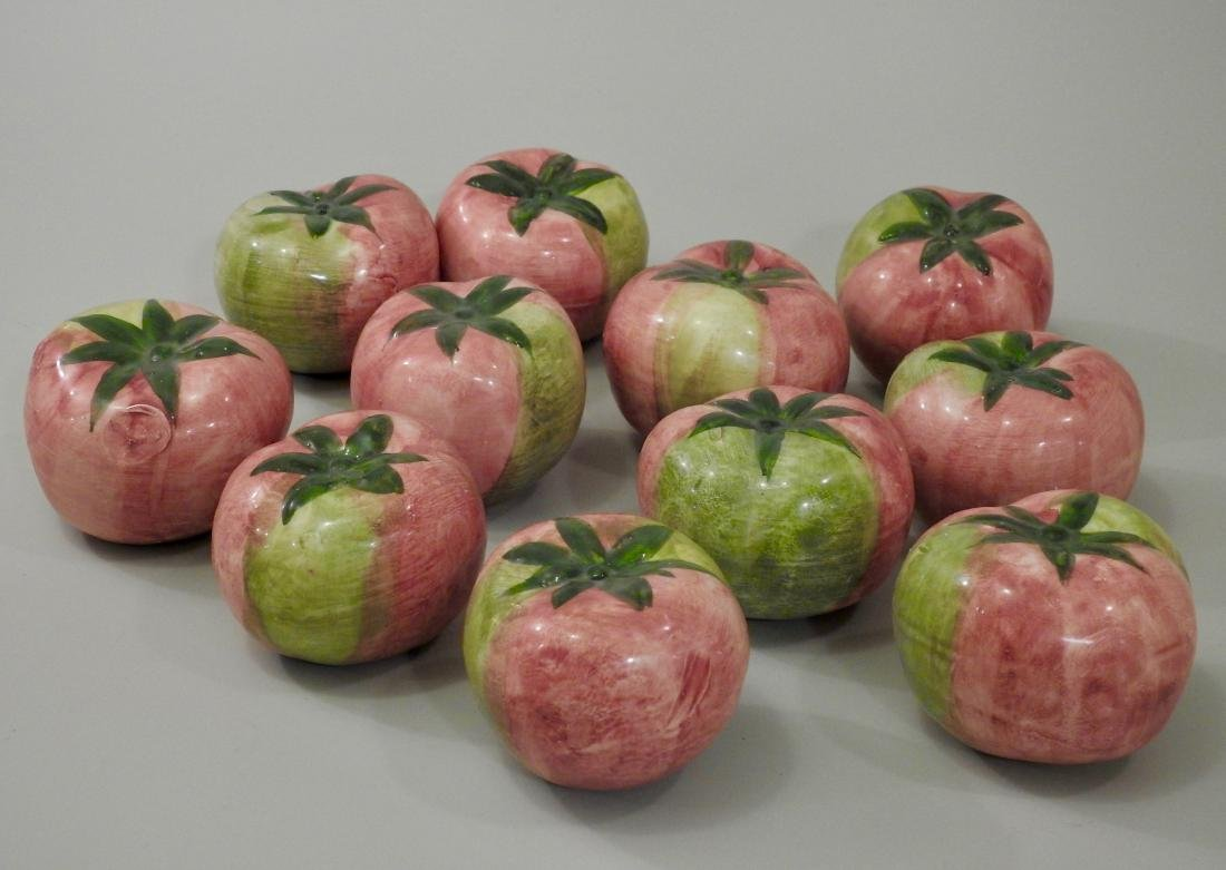 Italian Pomodoro Ceramic Green Tomatoes Lot of 11