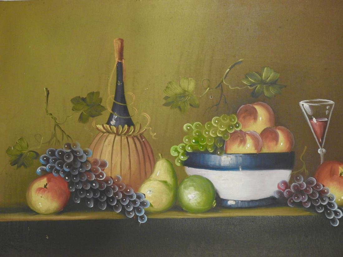 Primitive Italian Wine Oil on Canvas Painting - 2