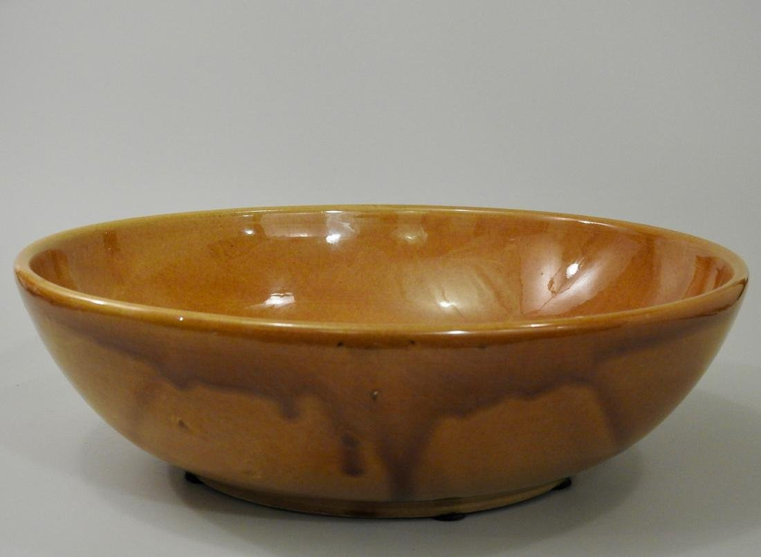 Large Italian Yellow Glaze Bowl