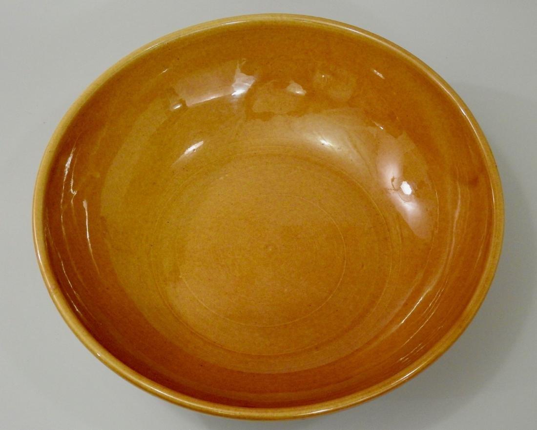 Large Italian Yellow Glaze Bowl - 2