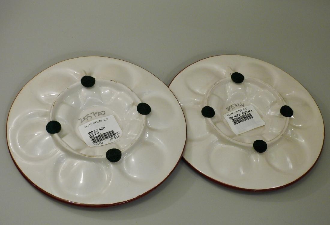 Italian Majolica Ceramic Oyster Plate Lot of 2 Wall - 3